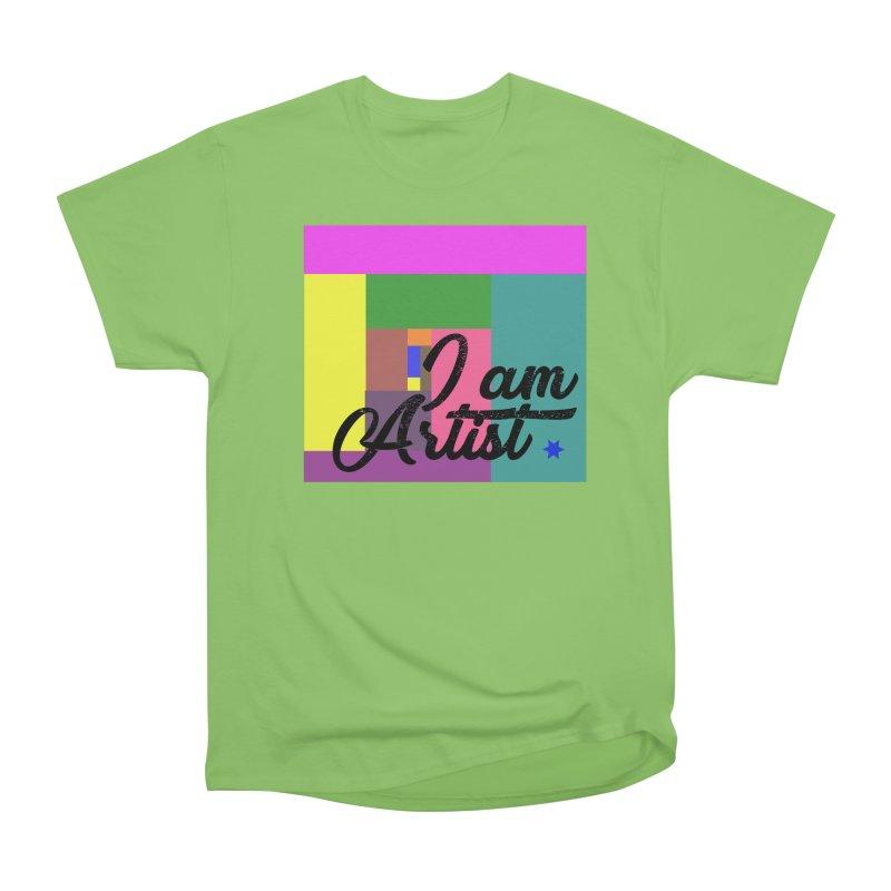 I AM ARTIST Men's Heavyweight T-Shirt by ZuniReds's Artist Shop