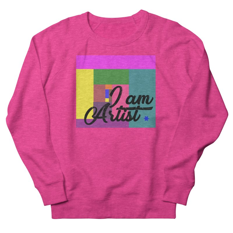 I AM ARTIST Men's French Terry Sweatshirt by ZuniReds's Artist Shop