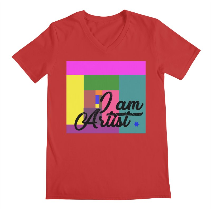 I AM ARTIST Men's V-Neck by ZuniReds's Artist Shop