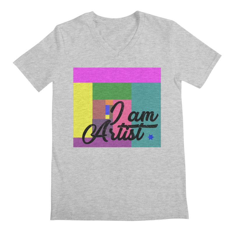 I AM ARTIST Men's Regular V-Neck by ZuniReds's Artist Shop