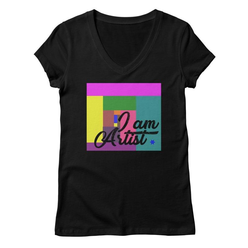 I AM ARTIST Women's V-Neck by ZuniReds's Artist Shop