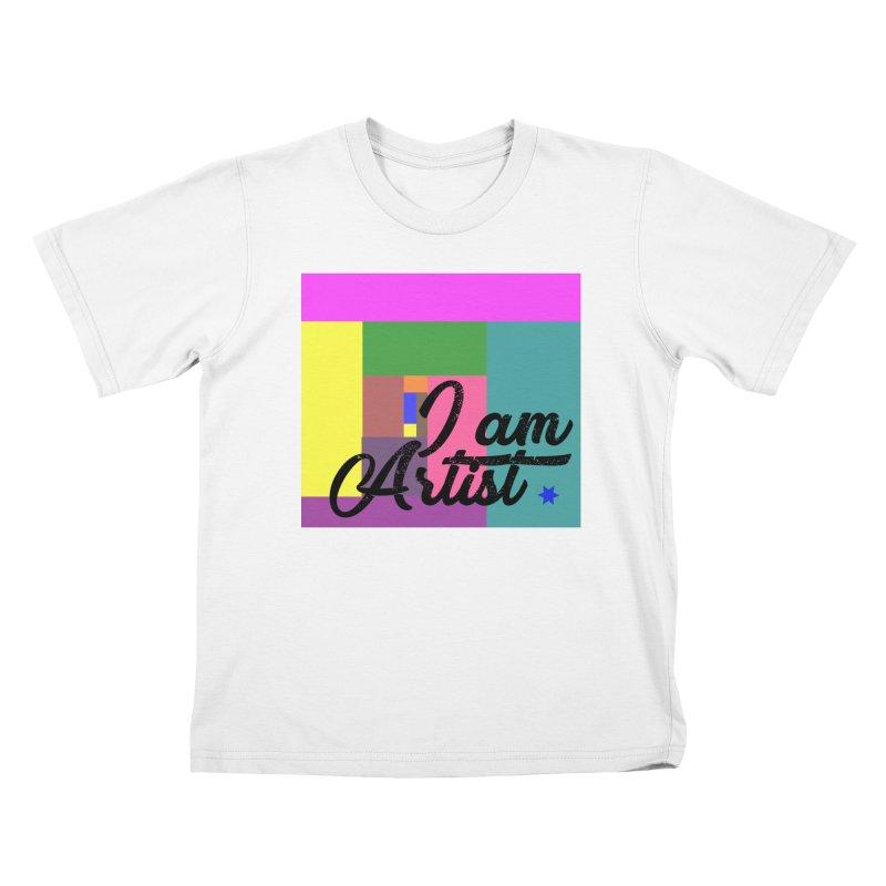 I AM ARTIST Kids T-Shirt by ZuniReds's Artist Shop
