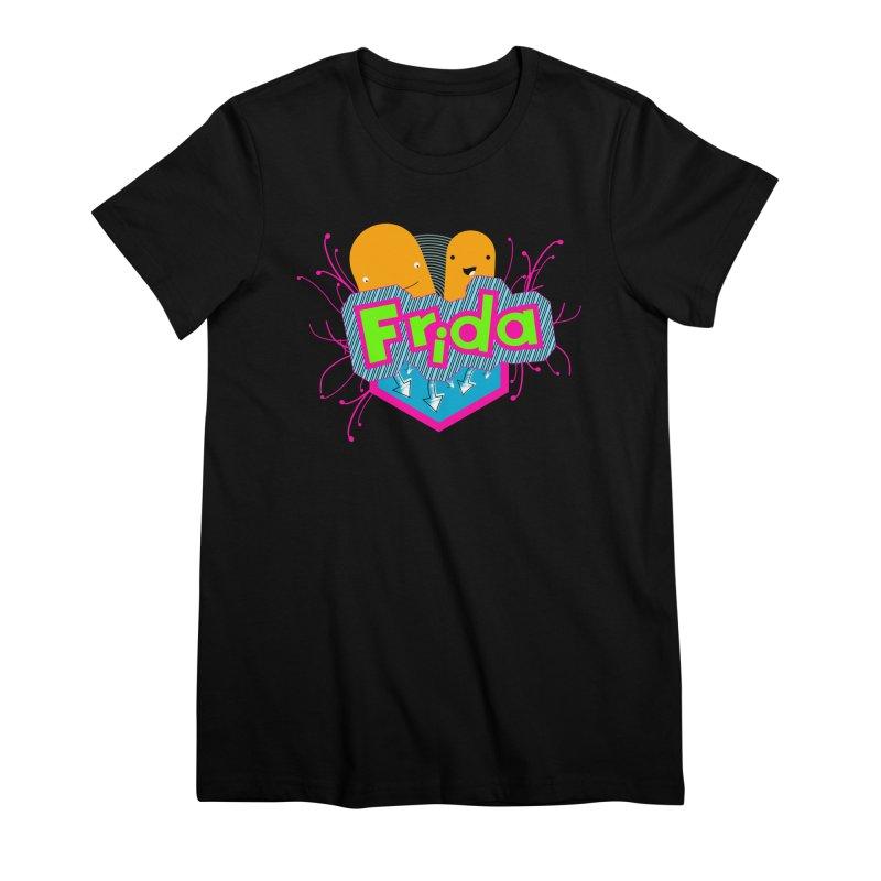 Frida Women's Premium T-Shirt by ZuniReds's Artist Shop