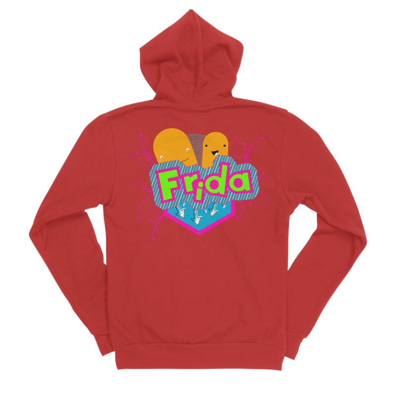 Frida Women's Sponge Fleece Zip-Up Hoody by ZuniReds's Artist Shop