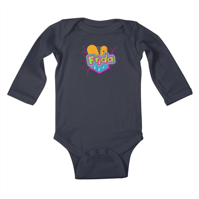 Frida Kids Baby Longsleeve Bodysuit by ZuniReds's Artist Shop