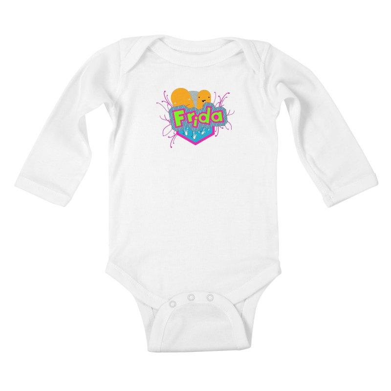 Frida Kids Baby Longsleeve Bodysuit by ZuniReds's Artist Shop