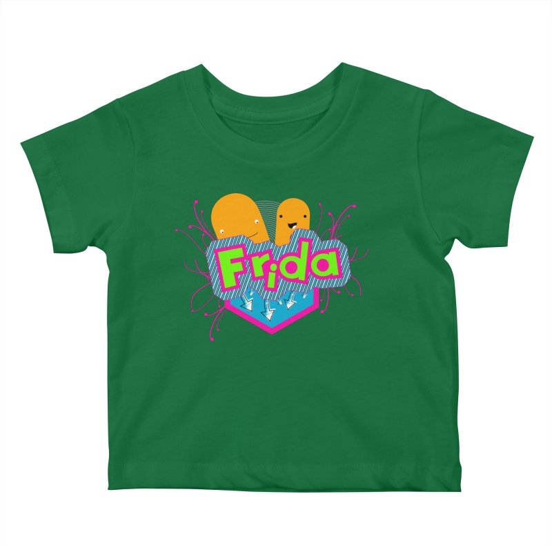 Frida Kids Baby T-Shirt by ZuniReds's Artist Shop