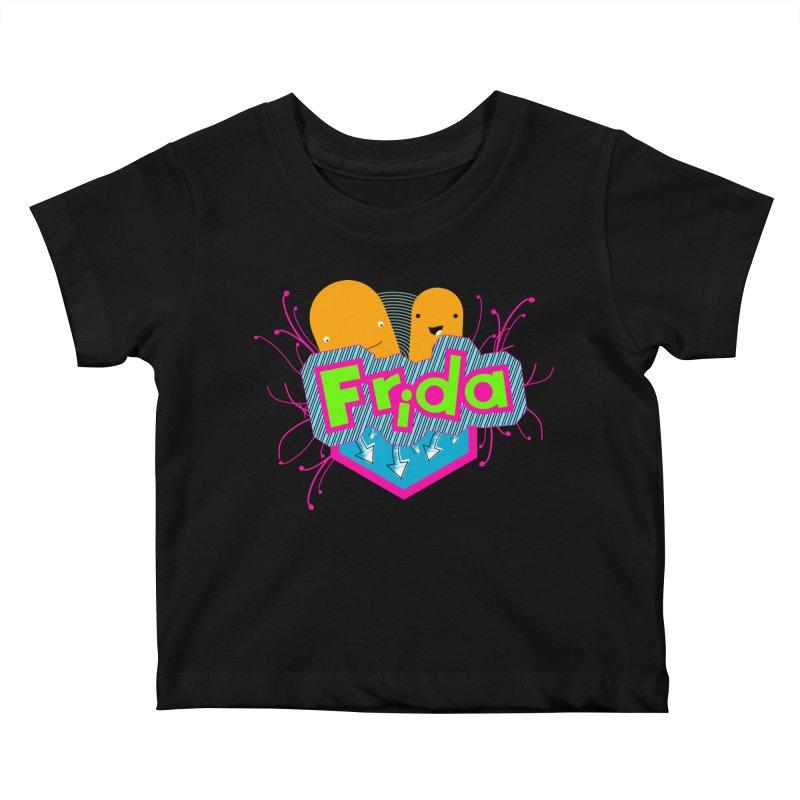 Frida Kids Baby T-Shirt by ZuniReds's Artist Shop