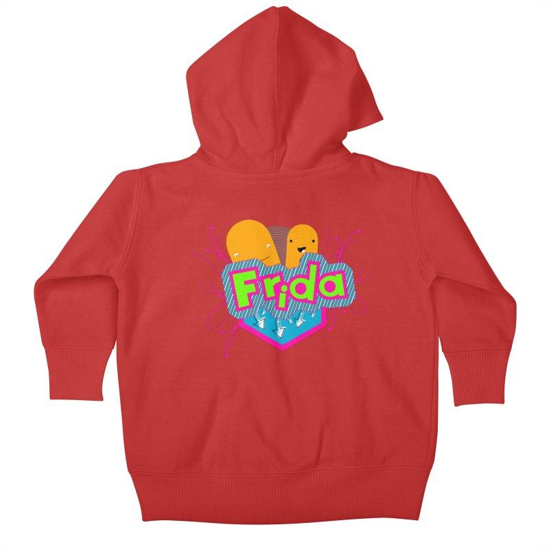 Frida Kids Baby Zip-Up Hoody by ZuniReds's Artist Shop
