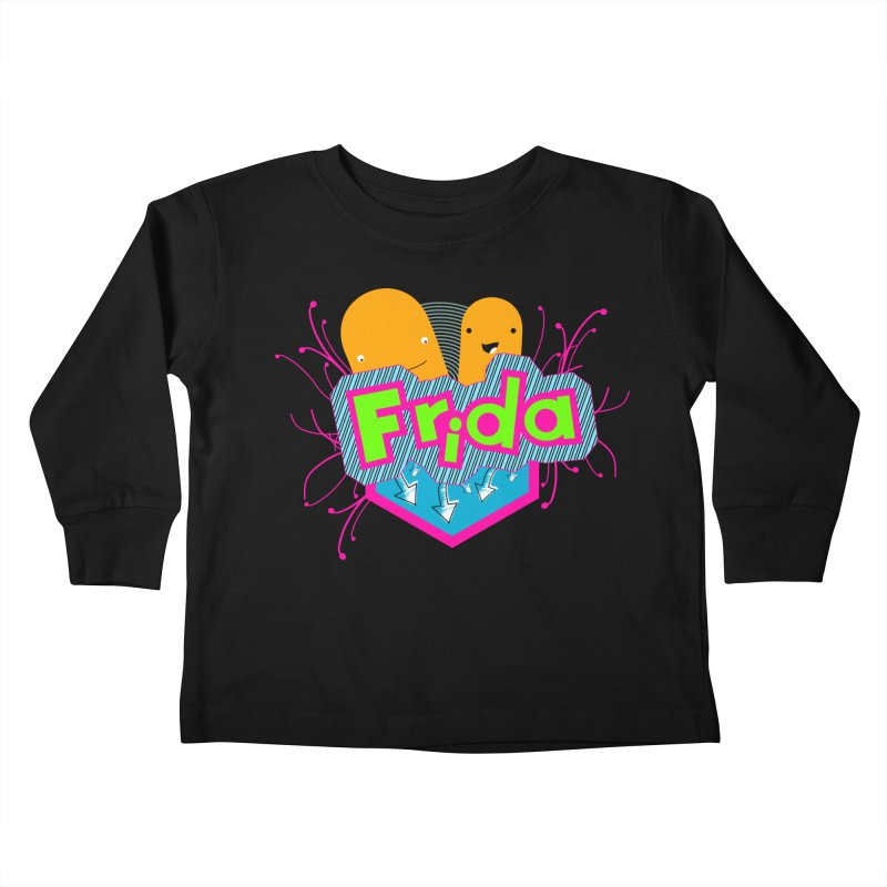 Frida Kids Toddler Longsleeve T-Shirt by ZuniReds's Artist Shop