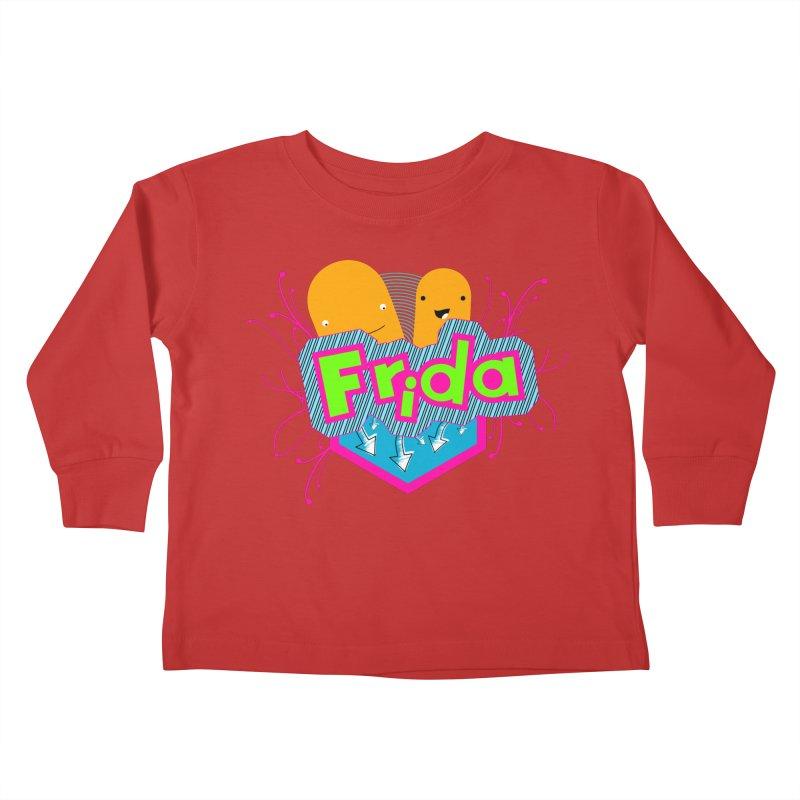 Frida Kids Toddler Longsleeve T-Shirt by ZuniReds's Artist Shop