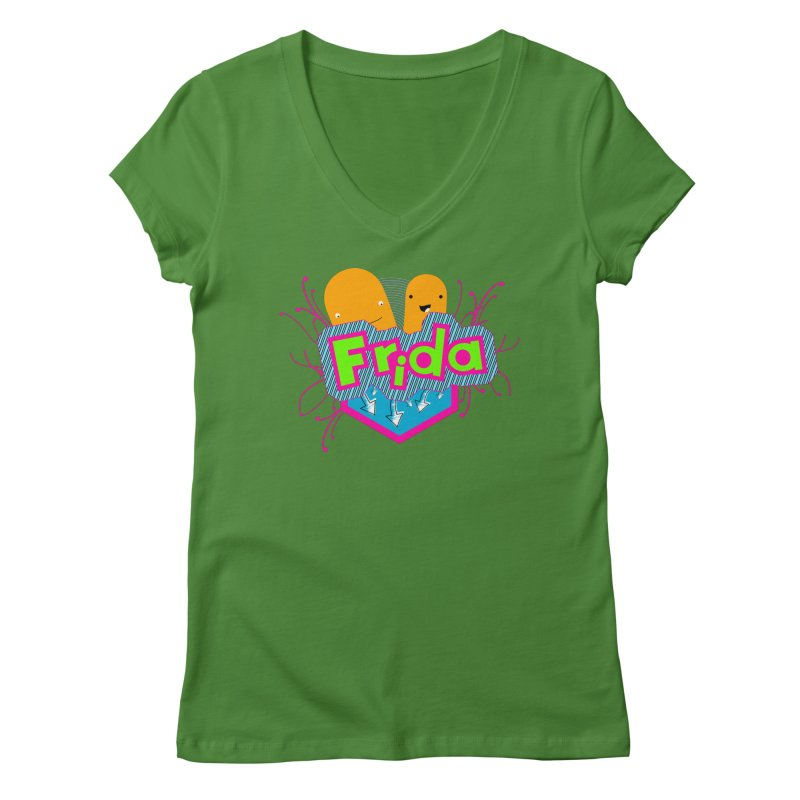 Frida Women's V-Neck by ZuniReds's Artist Shop