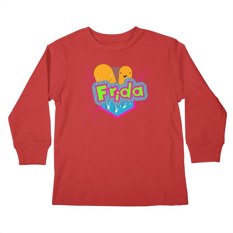 Frida Kids Longsleeve T-Shirt by ZuniReds's Artist Shop