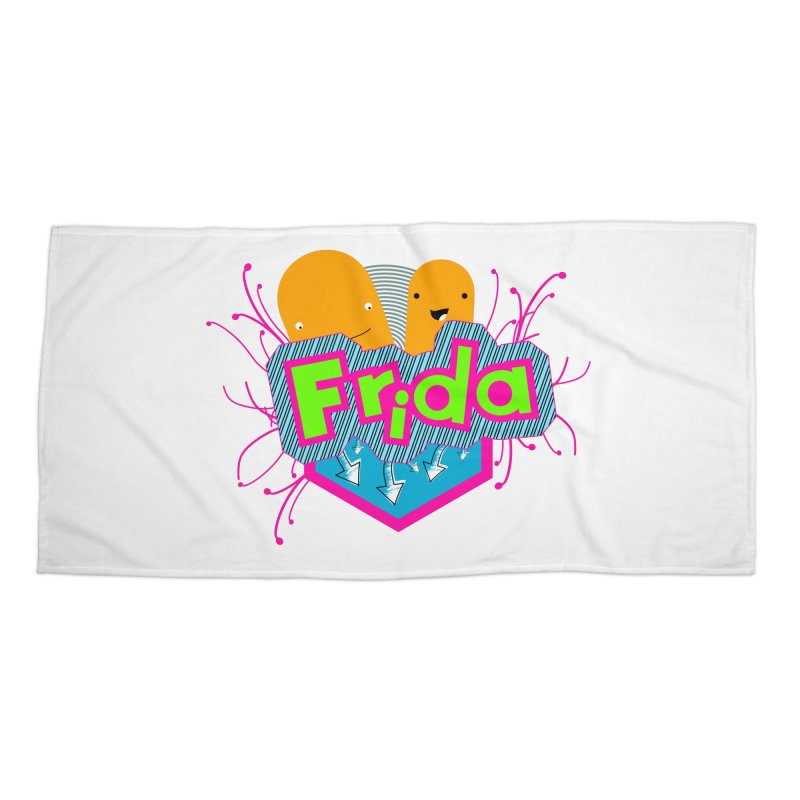 Frida Accessories Beach Towel by ZuniReds's Artist Shop