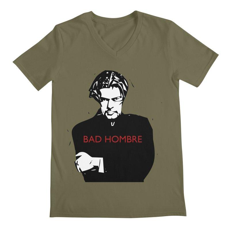 BAD HOMBRE Men's Regular V-Neck by zuzugraphics's Artist Shop