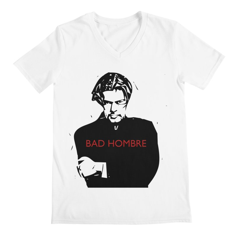 BAD HOMBRE Men's Regular V-Neck by zuzugraphics's Artist Shop