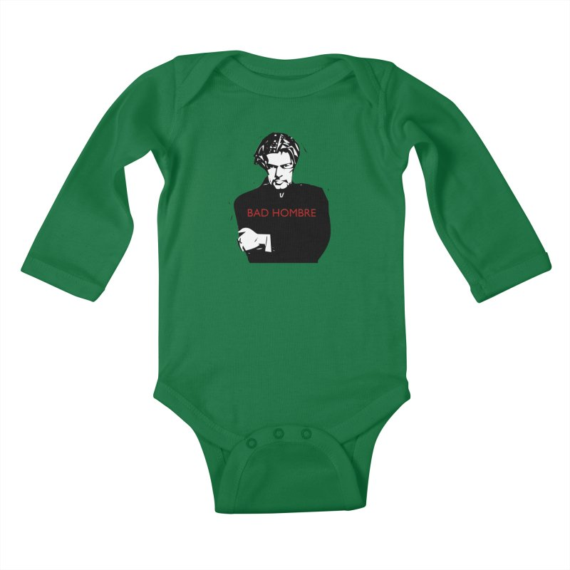 BAD HOMBRE Kids Baby Longsleeve Bodysuit by zuzugraphics's Artist Shop