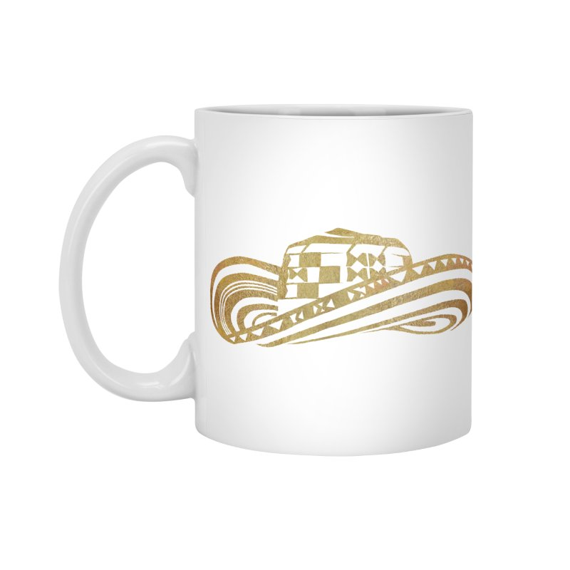 Colombian Sombrero Vueltiao in Gold Leaf Accessories Standard Mug by zuzugraphics's Artist Shop