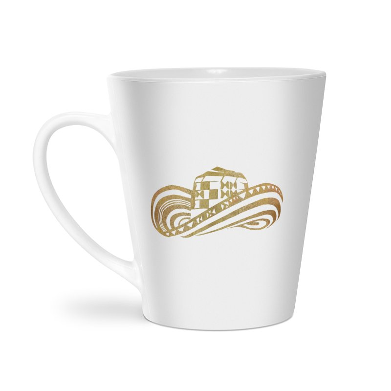 Colombian Sombrero Vueltiao in Gold Leaf Accessories Latte Mug by zuzugraphics's Artist Shop