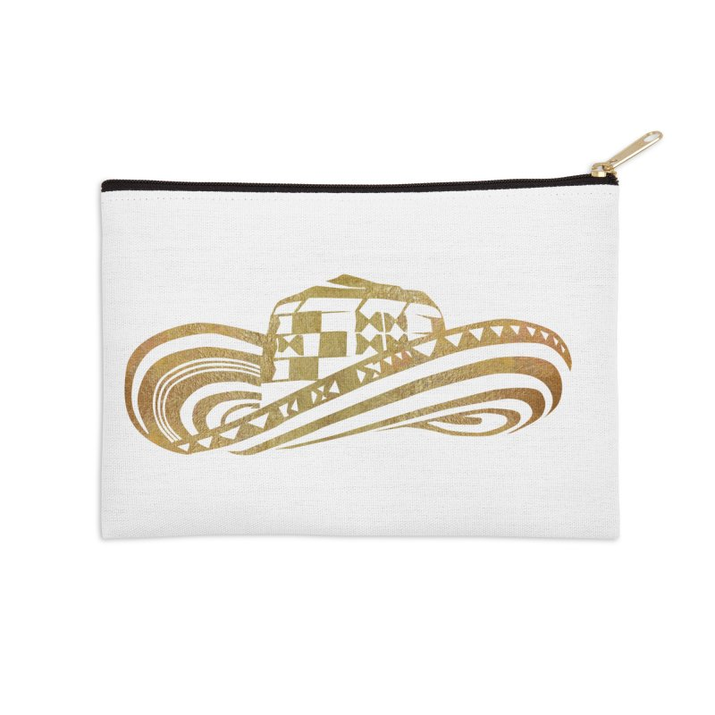 Colombian Sombrero Vueltiao in Gold Leaf Accessories Zip Pouch by zuzugraphics's Artist Shop