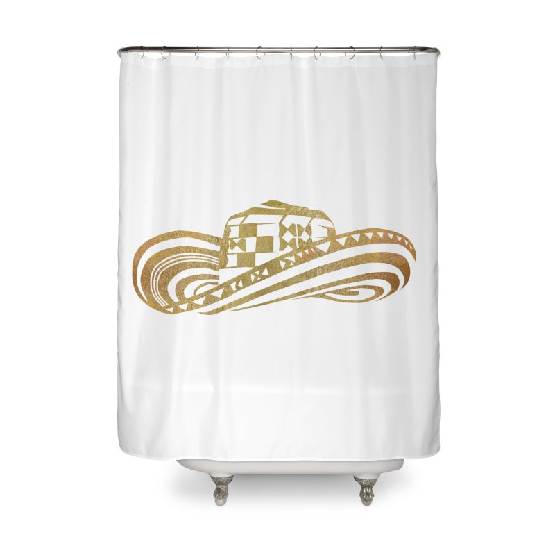 Colombian Sombrero Vueltiao in Gold Leaf  Home Shower Curtain by zuzugraphics's Artist Shop