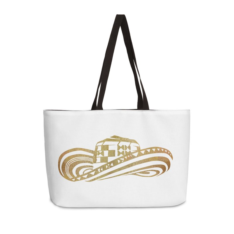 Colombian Sombrero Vueltiao in Gold Leaf Accessories Weekender Bag Bag by zuzugraphics's Artist Shop
