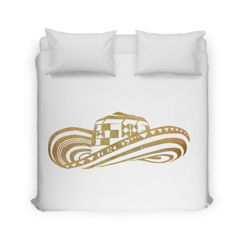 Colombian Sombrero Vueltiao in Gold Leaf Home Duvet by zuzugraphics's Artist Shop