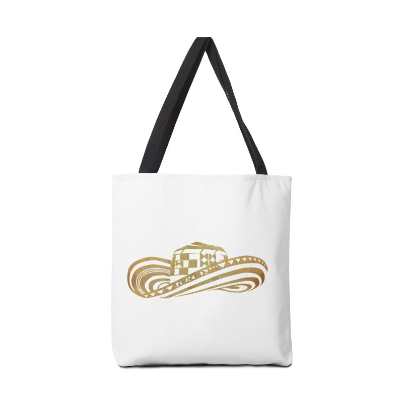 Colombian Sombrero Vueltiao in Gold Leaf  Accessories Bag by zuzugraphics's Artist Shop