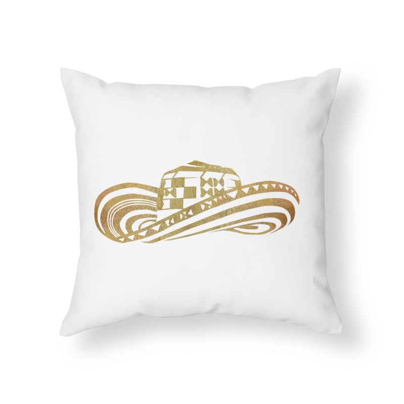 Colombian Sombrero Vueltiao in Gold Leaf  Home Throw Pillow by zuzugraphics's Artist Shop