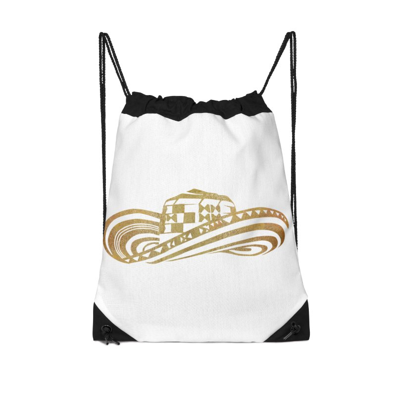 Colombian Sombrero Vueltiao in Gold Leaf Accessories Drawstring Bag Bag by zuzugraphics's Artist Shop