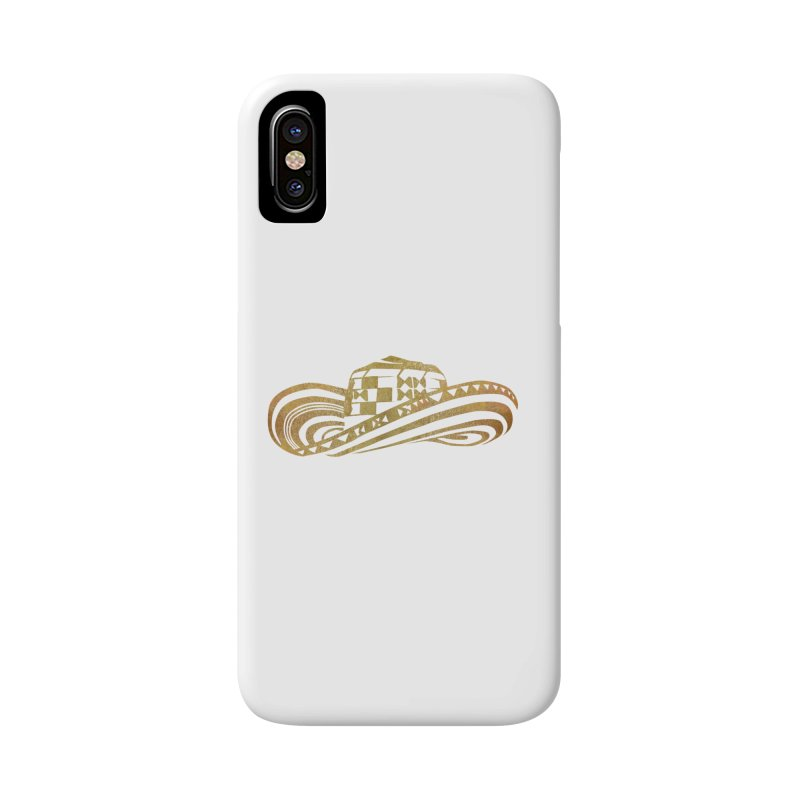 Colombian Sombrero Vueltiao in Gold Leaf  Accessories Phone Case by zuzugraphics's Artist Shop