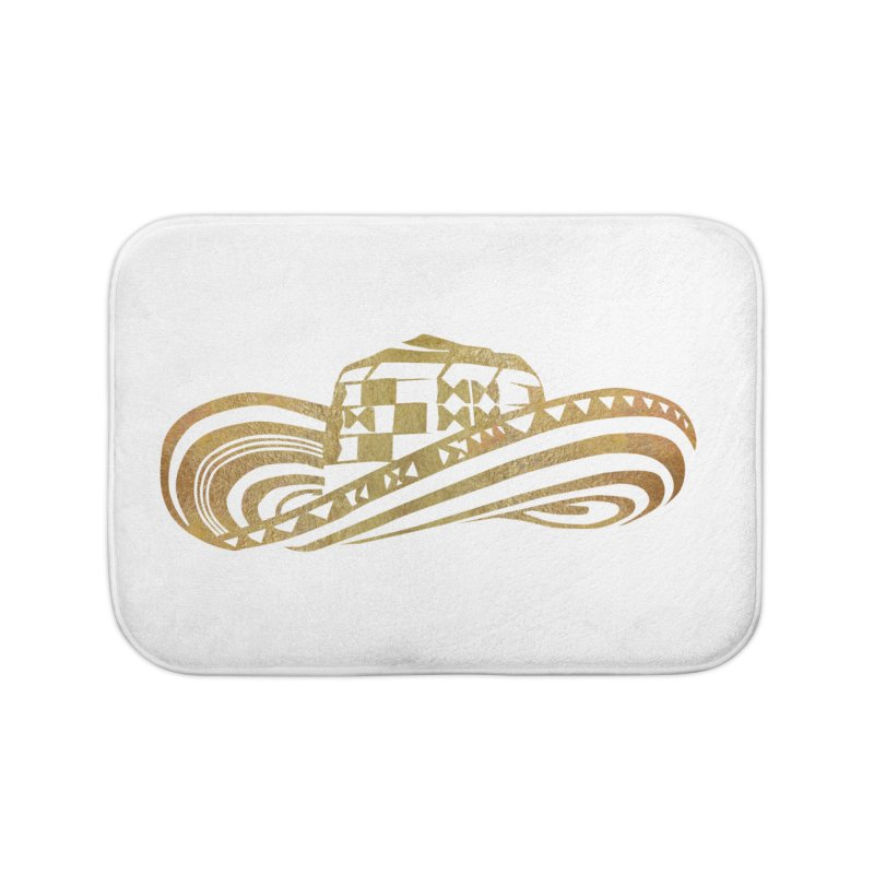 Colombian Sombrero Vueltiao in Gold Leaf  Home Bath Mat by zuzugraphics's Artist Shop