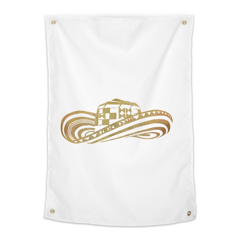 Colombian Sombrero Vueltiao in Gold Leaf  Home Tapestry by zuzugraphics's Artist Shop
