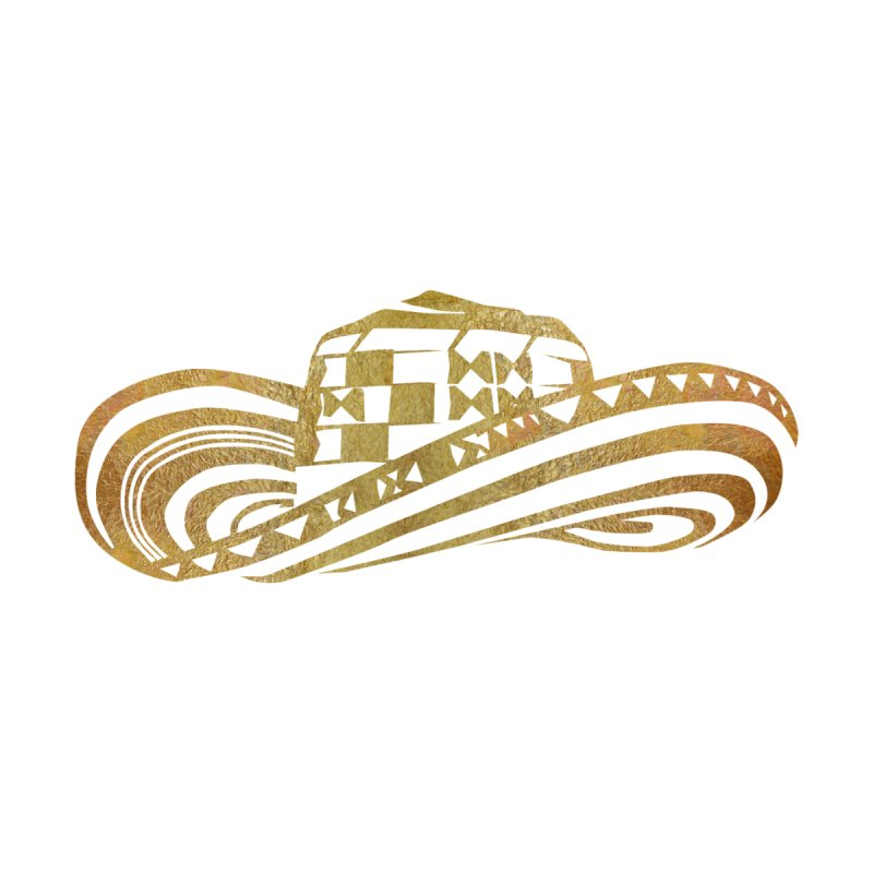 Colombian Sombrero Vueltiao in Gold Leaf by zuzugraphics's Artist Shop