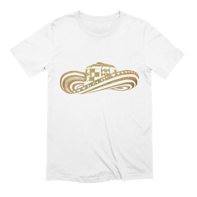 Colombian Sombrero Vueltiao in Gold Leaf Men's T-Shirt by zuzugraphics's Artist Shop