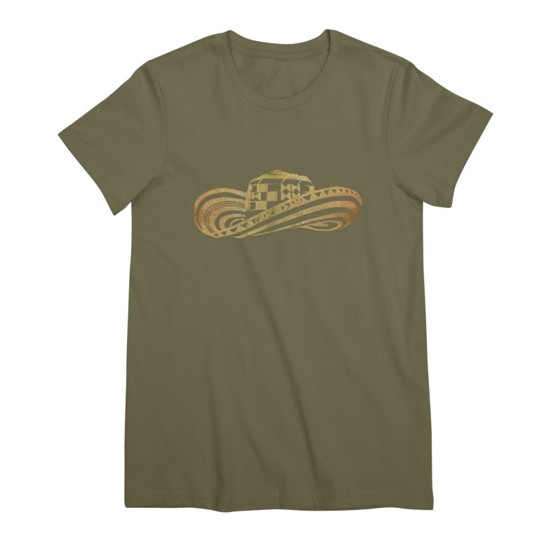 Colombian Sombrero Vueltiao in Gold Leaf Women's Premium T-Shirt by zuzugraphics's Artist Shop