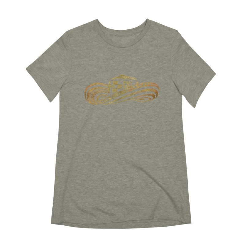 Colombian Sombrero Vueltiao in Gold Leaf Women's Extra Soft T-Shirt by zuzugraphics's Artist Shop