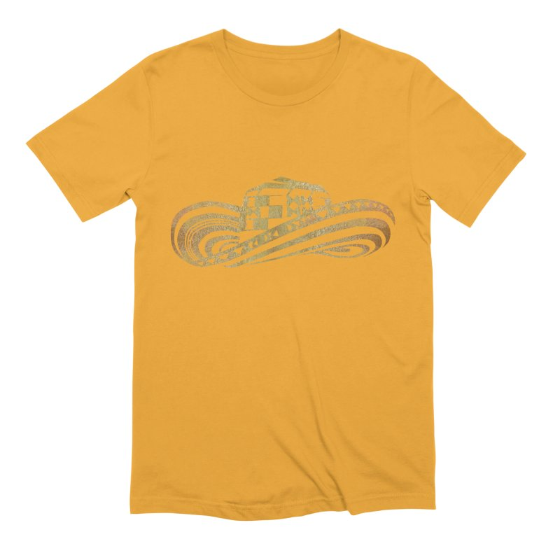 Colombian Sombrero Vueltiao in Gold Leaf Men's Extra Soft T-Shirt by zuzugraphics's Artist Shop