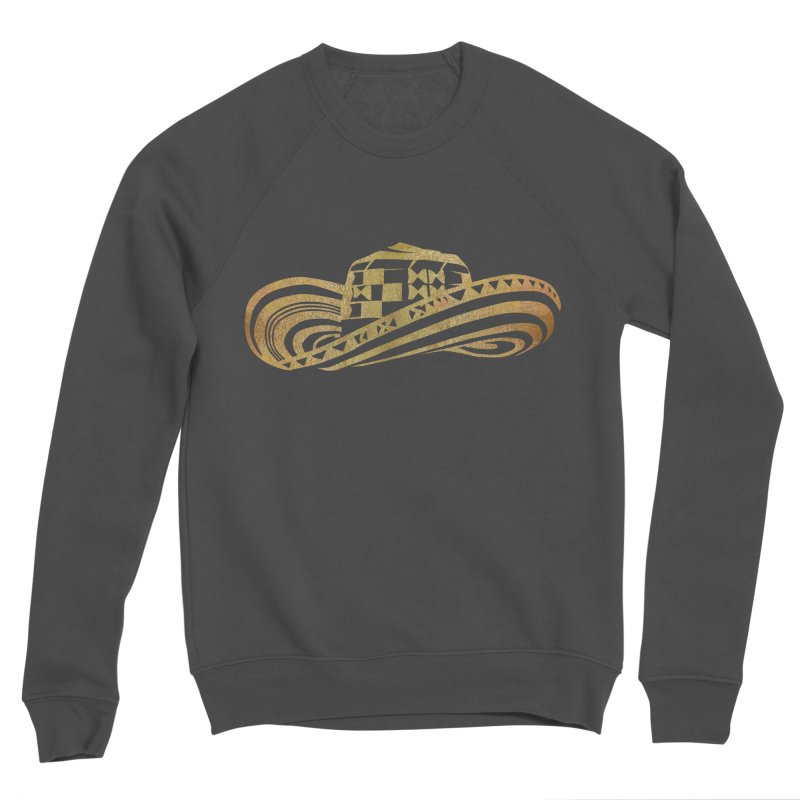 Colombian Sombrero Vueltiao in Gold Leaf Men's Sponge Fleece Sweatshirt by zuzugraphics's Artist Shop