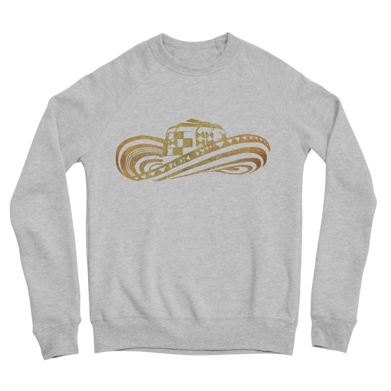 Colombian Sombrero Vueltiao in Gold Leaf Women's Sponge Fleece Sweatshirt by zuzugraphics's Artist Shop