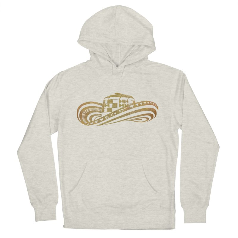 Colombian Sombrero Vueltiao in Gold Leaf Women's French Terry Pullover Hoody by zuzugraphics's Artist Shop