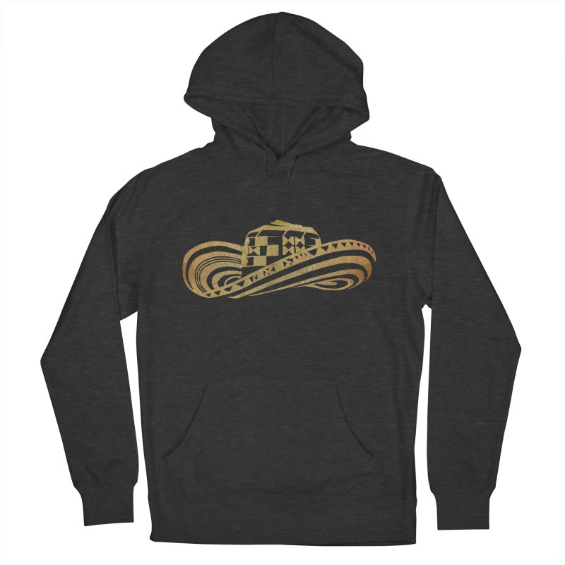 Colombian Sombrero Vueltiao in Gold Leaf Men's French Terry Pullover Hoody by zuzugraphics's Artist Shop