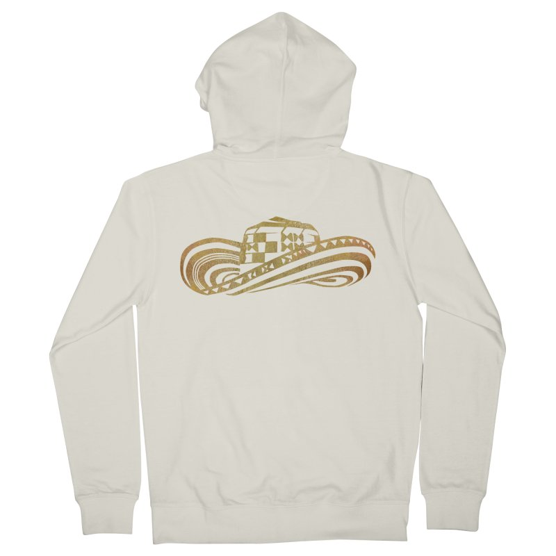 Colombian Sombrero Vueltiao in Gold Leaf Men's French Terry Zip-Up Hoody by zuzugraphics's Artist Shop