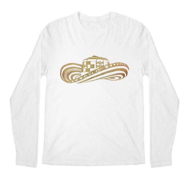 Colombian Sombrero Vueltiao in Gold Leaf Men's Regular Longsleeve T-Shirt by zuzugraphics's Artist Shop