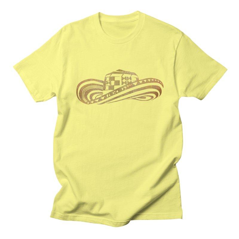 Colombian Sombrero Vueltiao in Gold Leaf Men's Regular T-Shirt by zuzugraphics's Artist Shop