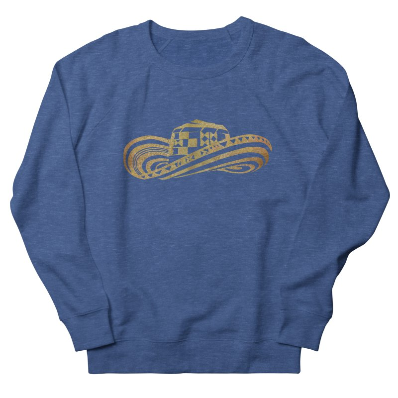 Colombian Sombrero Vueltiao in Gold Leaf Women's French Terry Sweatshirt by zuzugraphics's Artist Shop