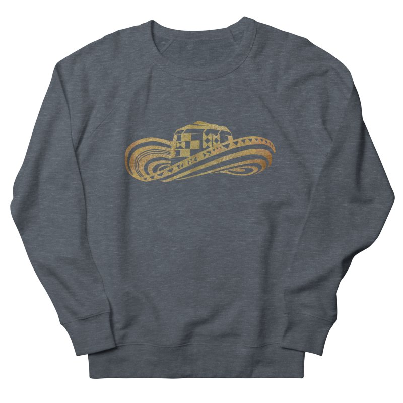 Colombian Sombrero Vueltiao in Gold Leaf Men's French Terry Sweatshirt by zuzugraphics's Artist Shop