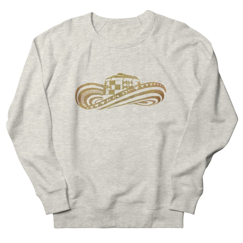 Colombian Sombrero Vueltiao in Gold Leaf Men's French Terry Sweatshirt by zuzugraphics's Artist Shop