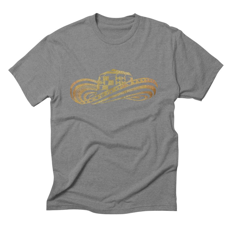 Colombian Sombrero Vueltiao in Gold Leaf  Men's Triblend T-Shirt by zuzugraphics's Artist Shop