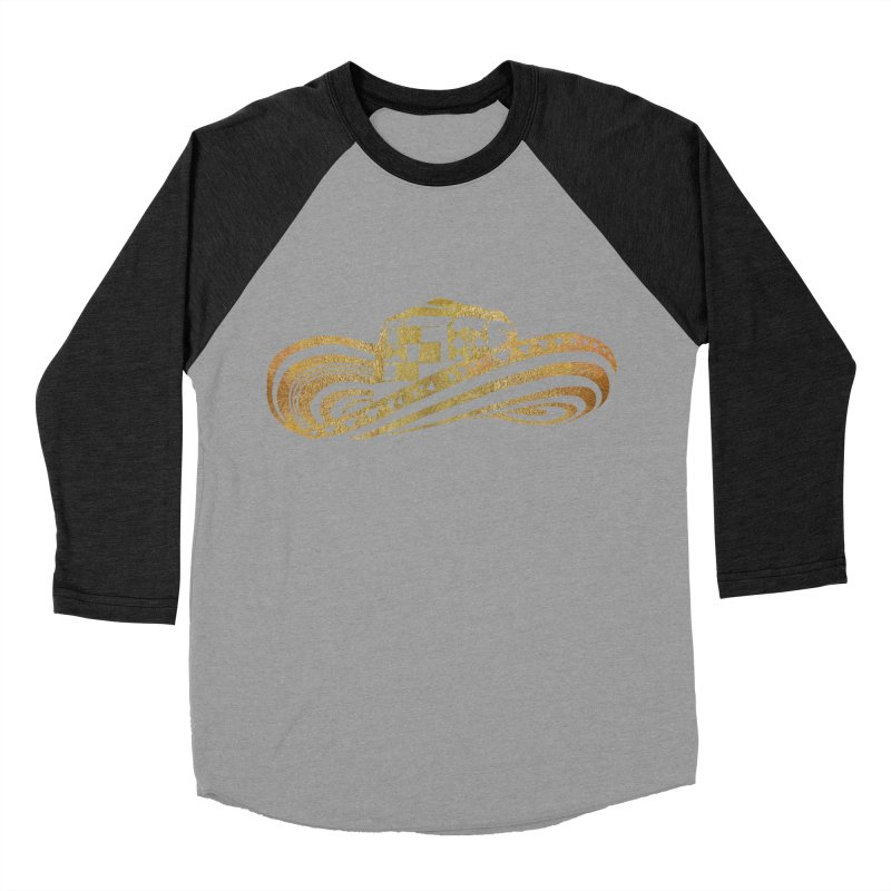 Colombian Sombrero Vueltiao in Gold Leaf Women's Baseball Triblend Longsleeve T-Shirt by zuzugraphics's Artist Shop